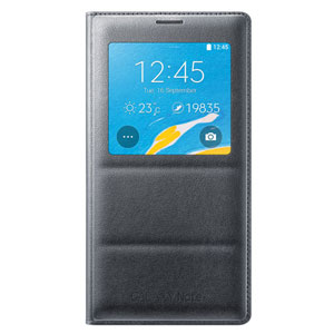 Official Samsung Galaxy Note 4 S View Wireless Charging Cover - Black