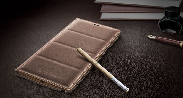Official Samsung Galaxy Note 4 Flip Wallet Cover - Plub