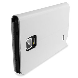Encase Adarga Leather-Style Galaxy Note 4 Wallet Stand Case - White