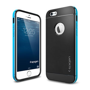Coque iPhone 6 Spigen SGP Neo Hybrid Metal - Bleue
