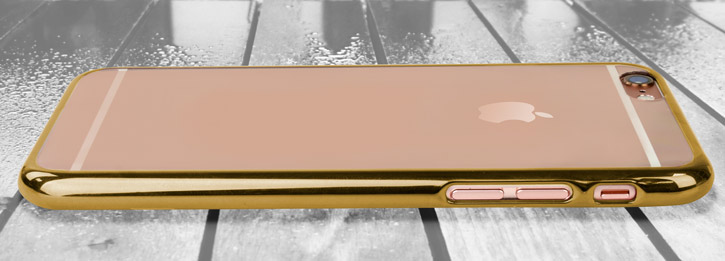 Glimmer Polycarbonate iPhone 6 Shell Case - Gold and Clear