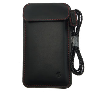 Draco Leather Sleeve iPhone 6 Case - Black