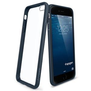 Spigen Ultra Hybrid iPhone 6 Plus Bumper Case - Metal Slate