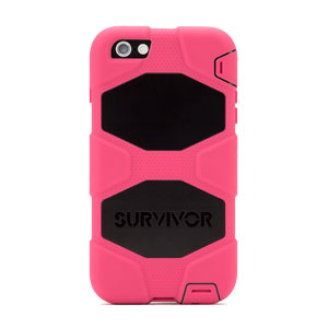 Griffin Survivor iPhone 6 Plus All-Terrain Case - Pink / Black