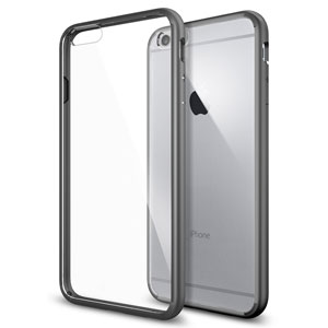 Spigen Ultra Hybrid iPhone 6 Plus Bumper Case - Gunmetal