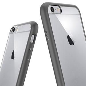 Spigen Ultra Hybrid iPhone 6 Plus Bumper Case - Gunmetal