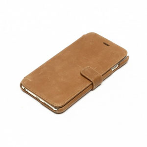 Zenus Vintage Diary iPhone 6 Plus Case - Tan