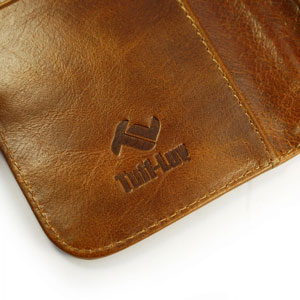 Tuff-Luv Alston Craig Leather iPhone 6 Wallet Pouch Case - Brown
