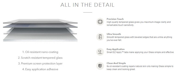 InvisibleShield Tempered Glass iPhone 6 Screen Protector