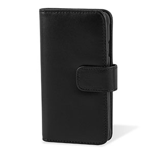 Encase Genuine Leather Samsung Galaxy Alpha Wallet Case - Black