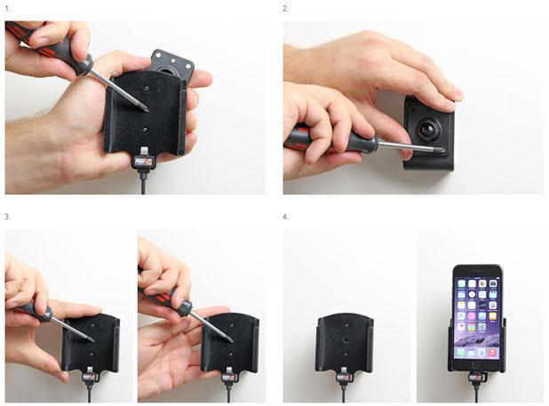 Brodit iPhone 6 Active Holder With Tilt Swivel and Cig-Plug