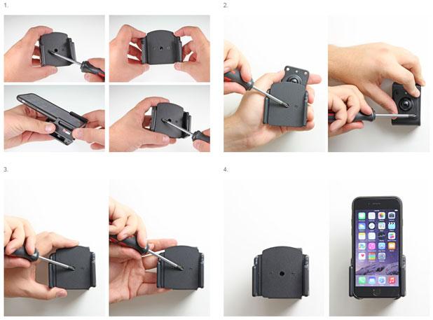 Brodit iPhone 6 Case Compatible Passive Holder with Tilt Swivel