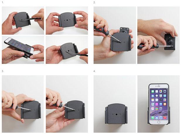 Brodit iPhone 6 Plus Case Compatible Passive Holder with Tilt Swivel
