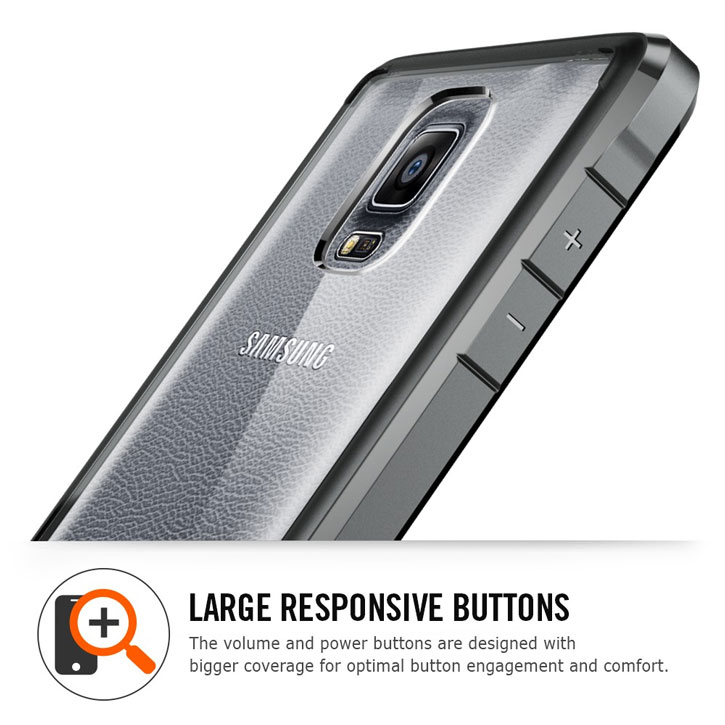 Spigen Ultra Hybrid Samsung Galaxy Note 4 Bumper Case - Crystal Clear