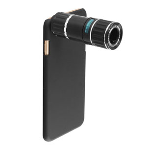 iPhone 6 Plus 12x Zoom Telescope with Tripod Stand - Black