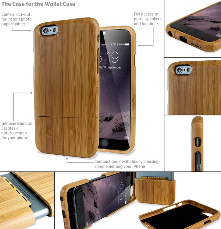 Encase Genuine Wood iPhone 6 Case - Bamboo