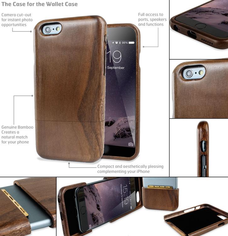 Encase Genuine Wood iPhone 6 Case - Walnut