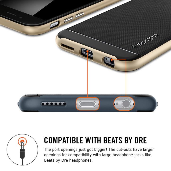 Spigen Neo Hybrid iPhone 6S / 6 Case - Metal Slate