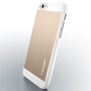 Spigen Aluminum Fit iPhone 6 Shell Case - Champagne Gold