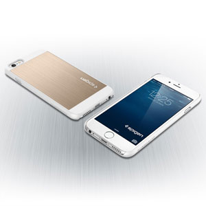 Spigen Aluminum Fit iPhone 6 Shell Case - Champagne Gold
