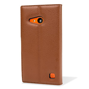 Encase Leather-Style Nokia Lumia 735 Wallet Case - Brown