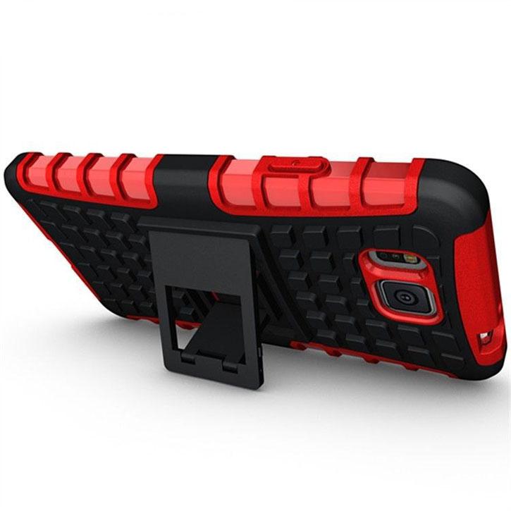 Encase ArmourDillo Hybrid Samsung Galaxy Alpha Protective Case - Red