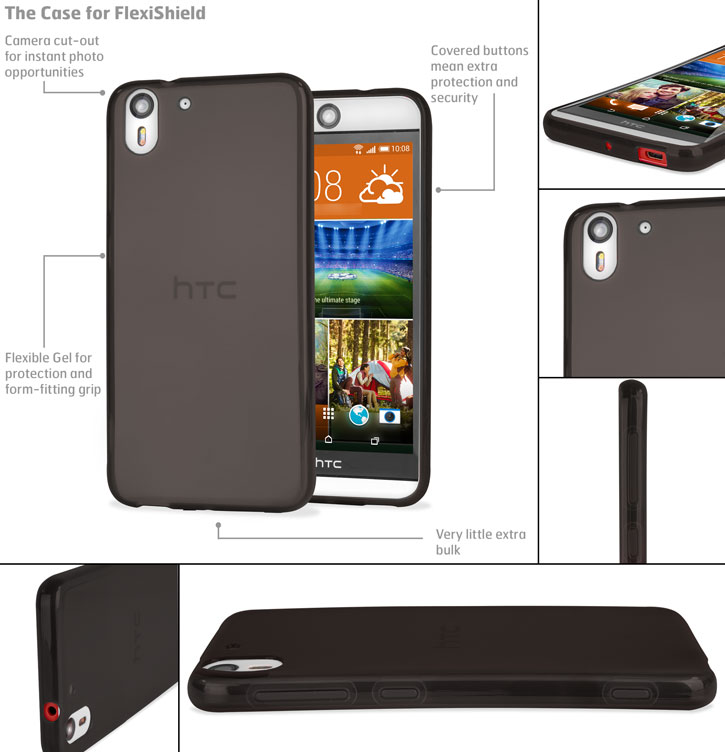 Encase FlexiShield HTC Desire Eye Gel Case - Smoke Black