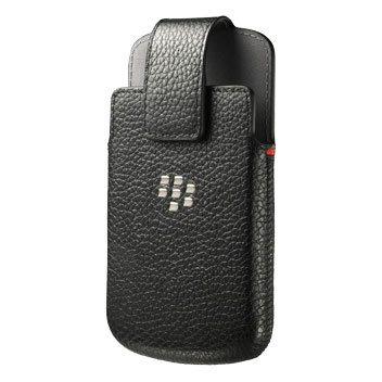 BlackBerry Classic Leather Swivel Holster Pouch - Black