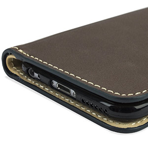Encase Real Leather Iphone 6s 6 Wallet Case Brown