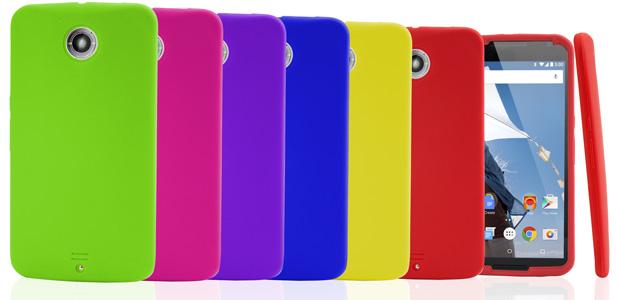 6-in-1 Silicone Google Nexus 6 Case Pack