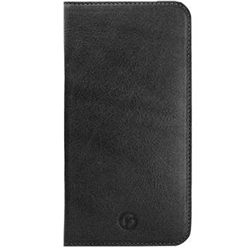Redneck Red Line Folio Book iPhone 6 Plus Genuine Leather Case - Black