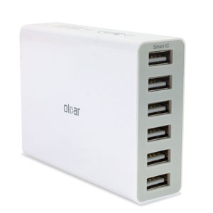 Olixar 6 USB Smart IC Charger - 10 Amps