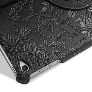 Encase Flower iPad Air 2 Case - Black