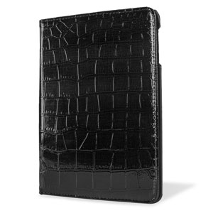 Encase Alligator Pattern Rotating iPad Mini 3 / 2 / 1 Case - Black
