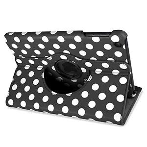 Encase Leather-Style Dotted Rotating iPad Mini 3 / 2 / 1 Case - Black