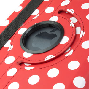 Encase Leather-Style Dotted Rotating iPad Mini 3 / 2 / 1 Case - Red