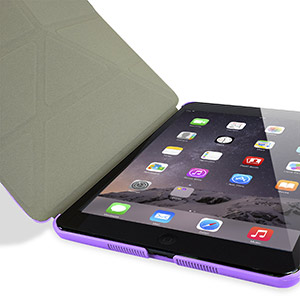 Encase Folding Stand iPad Mini 3 / 2 / 1 Case - Purple