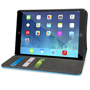Encase Stand and Type iPad Mini 3 / 2 / 1 Case - Light Blue