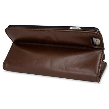 Olixar Genuine Leather iPhone 6 Plus Wallet Case - Brown