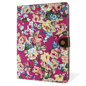 Encase Vintage Flower iPad Air 2 Case - Pink