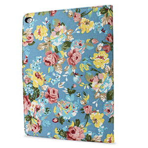 Encase Vintage Flower iPad Air 2 Case - Blue