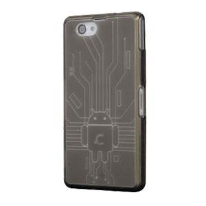 Cruzerlite Bugdroid Circuit Sony Xperia Z3 Compact Case - Smoke Black