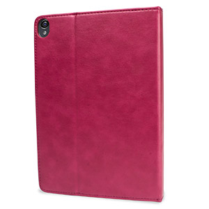 Encase Leather-Style Google Nexus 9 Wallet Stand Case - Pink