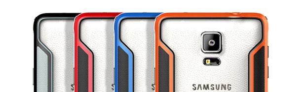 Nillkin Armor Border Samsung Galaxy Note 4 Bumper Case - Orange