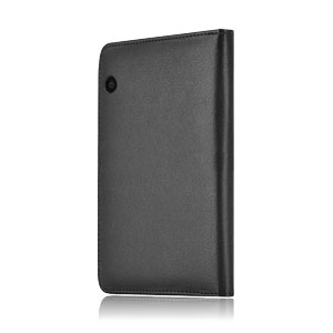 Encase Leather Style Amazon Kindle Voyage Folio Case - Black