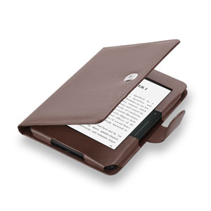 Encase Leather Style Amazon Kindle Voyage Folio Case - Brown