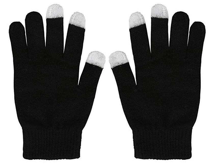 Gants tactiles Unisex Olixar Smart TouchTip – Noir