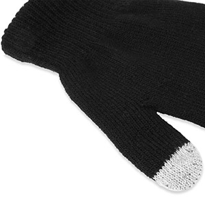 Smart TouchTip Gloves for Capacitive Touch Screens - Small - Black