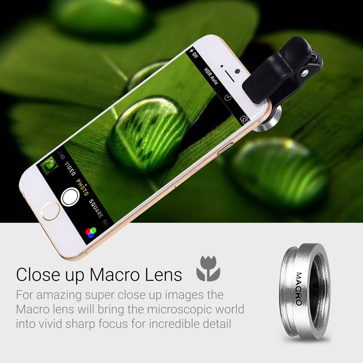 Olixar 3-in-1 Universal Clip Camera Lens Kit