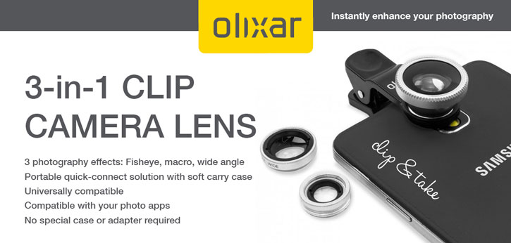 was olixar 3 in 1 universal clip camera lens kit expected that